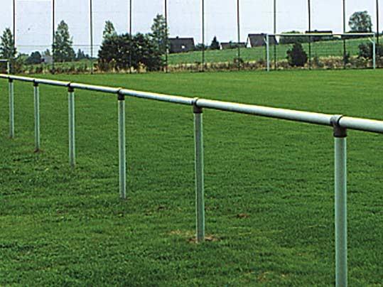 Barriere aus Stahlrohr Ø 60 mm