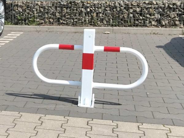 Parkplatzsperre, umlegbar mit Profilzylinderschloss Dübelbefestigung