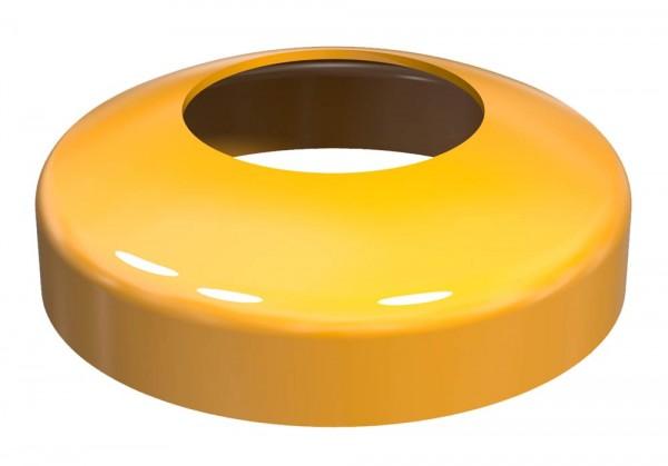 Abdeckkappe Ø 200 mm für Absperrpfosten neigbar gelb beschichtet