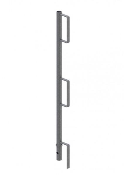 Geländerpfosten aus Rundrohr 33,7 x 2 x 1000 mm