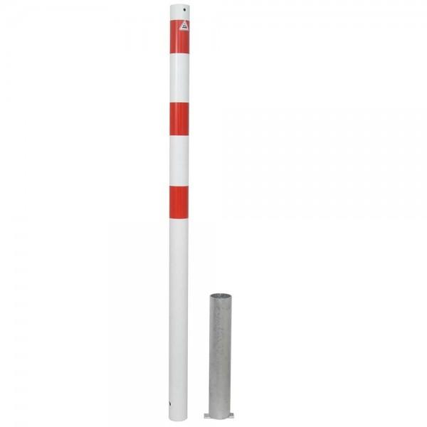 Absperrpfosten Stahlrohr Ø 60 mm, herausnehmbar