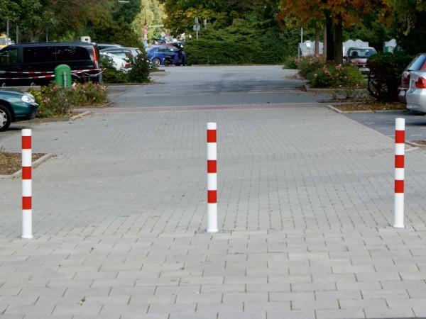 Absperrpfosten Stahlrohr Ø 76 mm, ortsfest