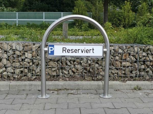 Rundbügel für Parkplatzbeschilderung