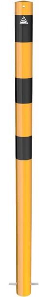 Absperrpfosten Stahlrohr Ø 76 mm, ortsfest (gelb/schwarz)