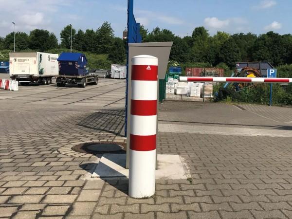 Stahlrohrpoller Ø 273 x 5 mm, ortsfest zum Einbetonieren