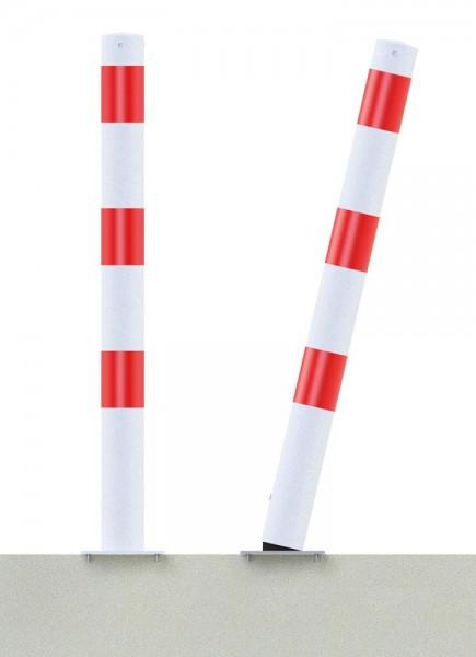 Absperrpfosten Stahlrohr Ø 76 mm, Ortsfest allseitig bis 30° neigbar