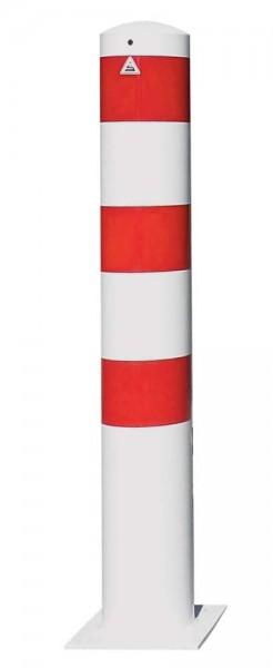 Stahlrohrpoller Ø 273 x 5 mm, zum Aufdübeln mit Bodenplatte
